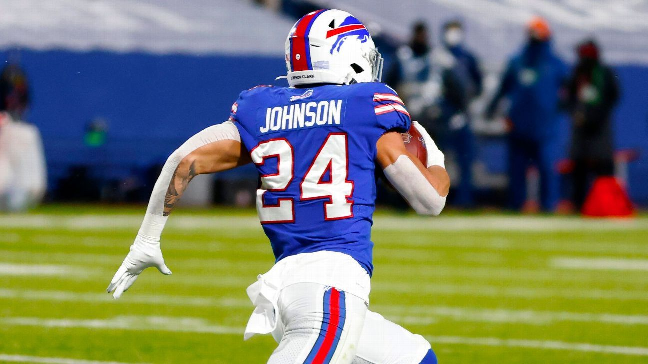 Taron Johnson's incredible 101-yard INT return pads Bills' lead