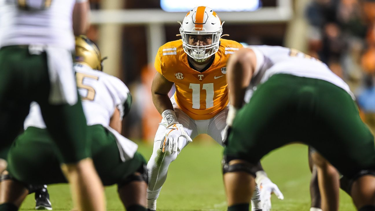 Tennessee top tackler To'o To'o transfers to Tide