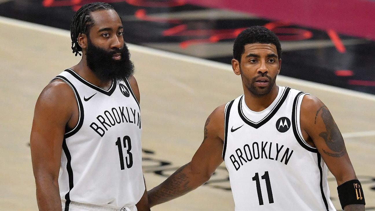Brooklyn Nets' Kyrie Irving out James Harden available for Game 6 vs. Milwaukee Bucks – ESPN