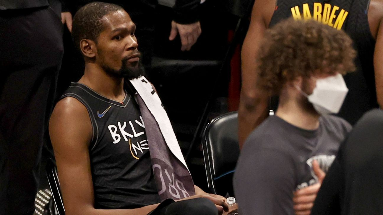 Brooklyn Nets star Kevin Durant to miss at least two games with hamstring strain - ESPN