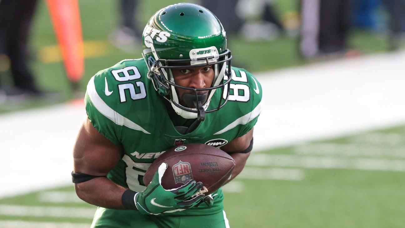 New York Jets wide receiver Jamison Crowder positive for COVID-19, source says