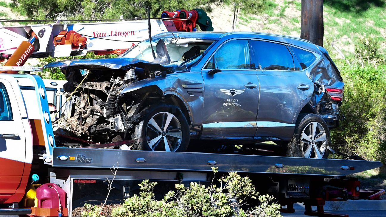 Tiger Woods' car accident in February was caused by excessive speed, the Los Angeles County Sheriff's Office says.