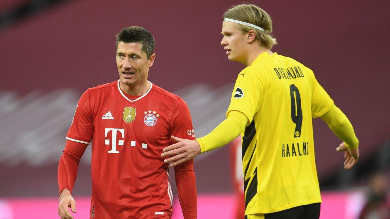 Robert Lewandowski reminds Erling Haaland of the Bundesliga pecking order - ESPN