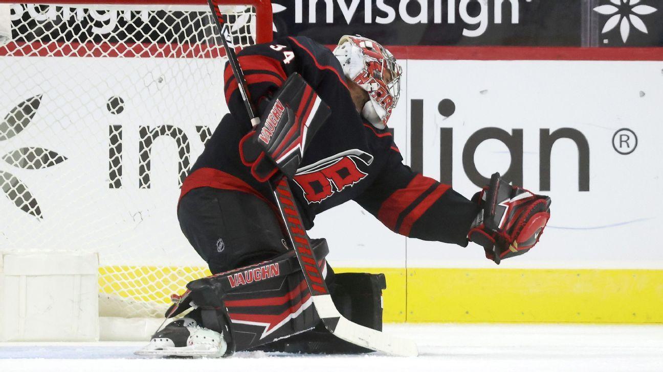 Sources: Canes, Leafs complete goalie 'swap'