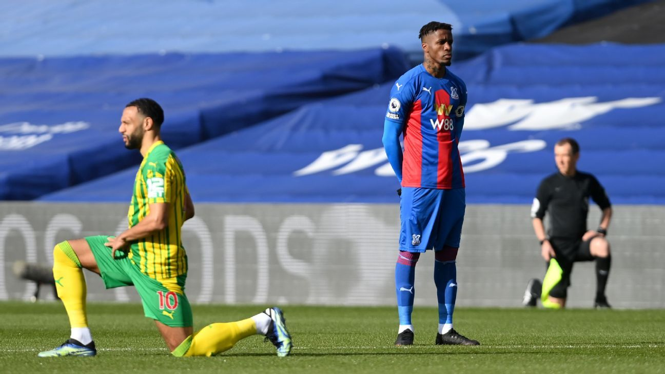 Crystal Palace's Zaha becomes first Premier League player not to kneel before a game - ESPN India