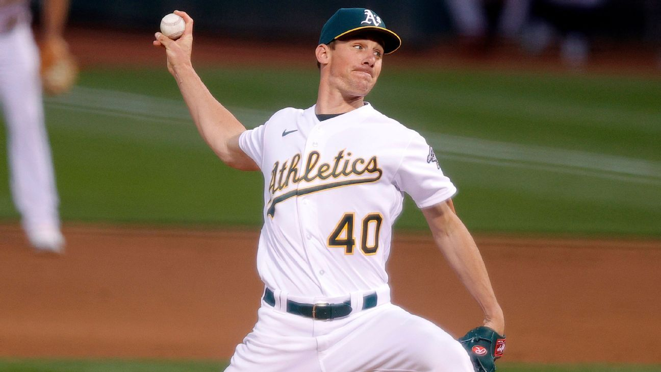 Chris Bassitt to start for Oakland Athletics on Thursday, 5 weeks after 100 mph line drive to head