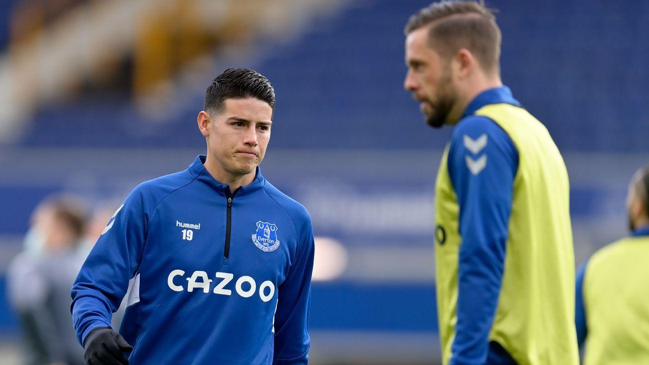 Everton mantiene su confianza en James y alista un plan con él para después de la Copa América