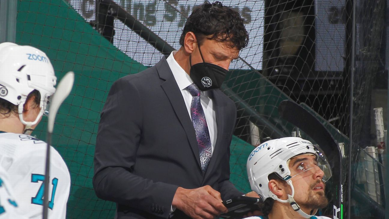 San Jose Sharks associate coach Rocky Thompson stepping down after being unable to receive COVID-19 vaccine