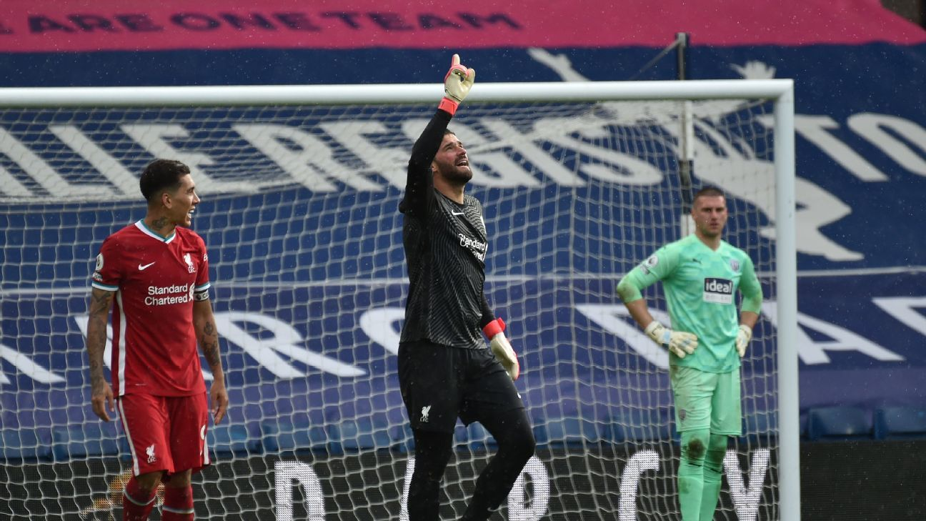 Alisson's stoppage-time winner keeps Liverpool's top-four hopes alive