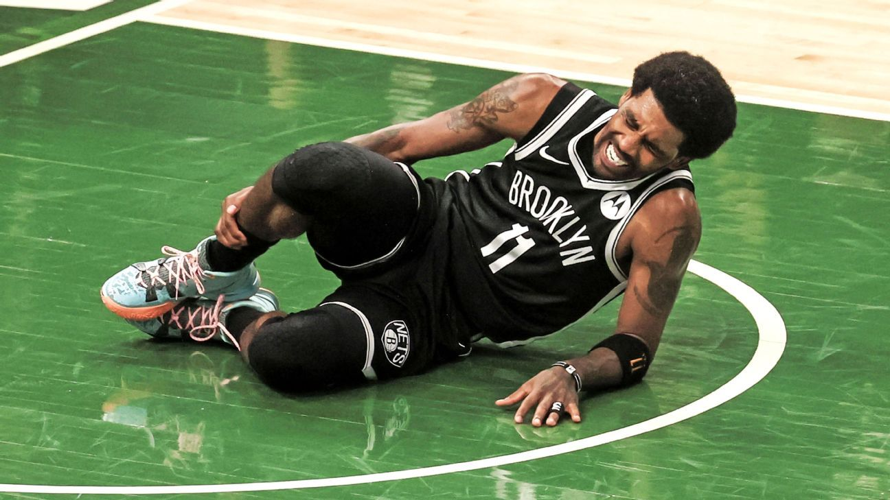 Brooklyn Nets guard Kyrie Irving exits Game 4 with right ankle injury X-rays negative – ESPN