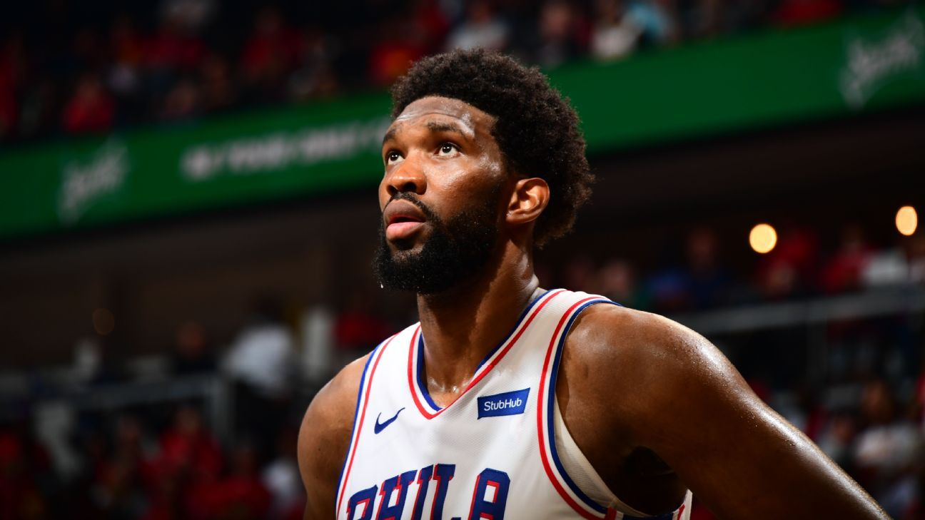 Bothered by ailing knee Philadelphia 76ers' Joel Embiid fades in second half as Atlanta Hawks rally to tie series – ESPN