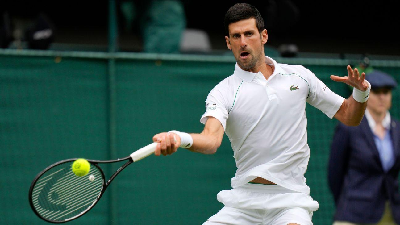 Novak Djokovic extends Wimbledon win streak to 16 matches