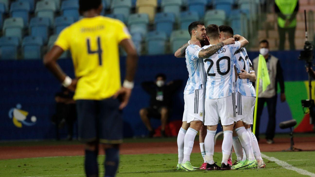 Argentina vs. Ecuador - Reporte del Partido - 3 julio, 2021 - ESPN