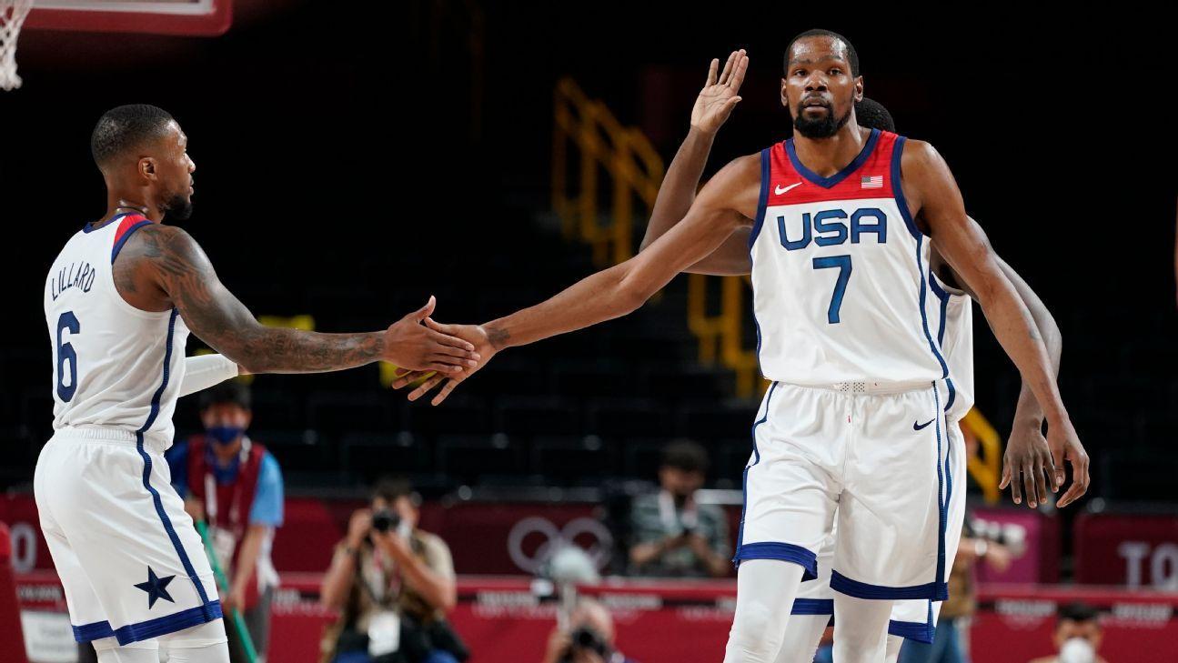 U.S. men's basketball team bounces back from loss, defeats Iran 120-66