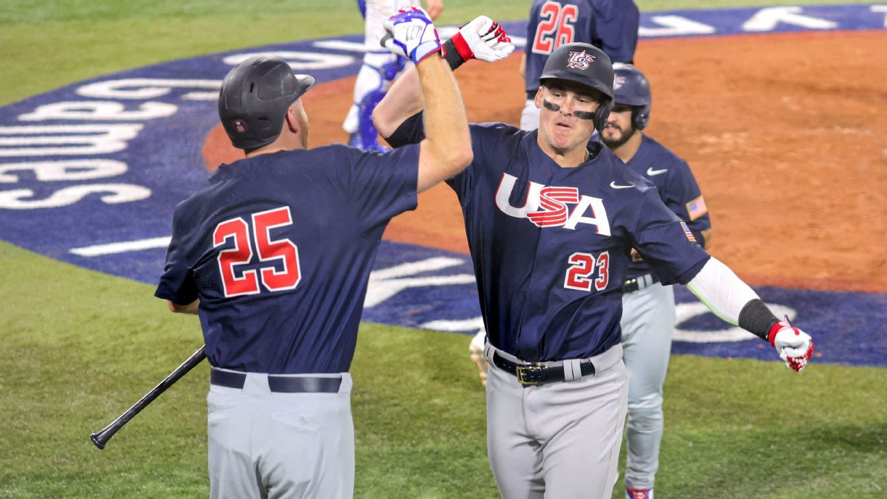 United States routs Israel to open Olympic baseball tournament in Tokyo