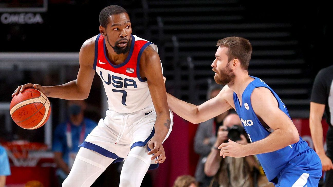 Olympics 2021 ICYMI: KD passes Melo, a new fastest woman, world record for Caeleb Dressel thumbnail