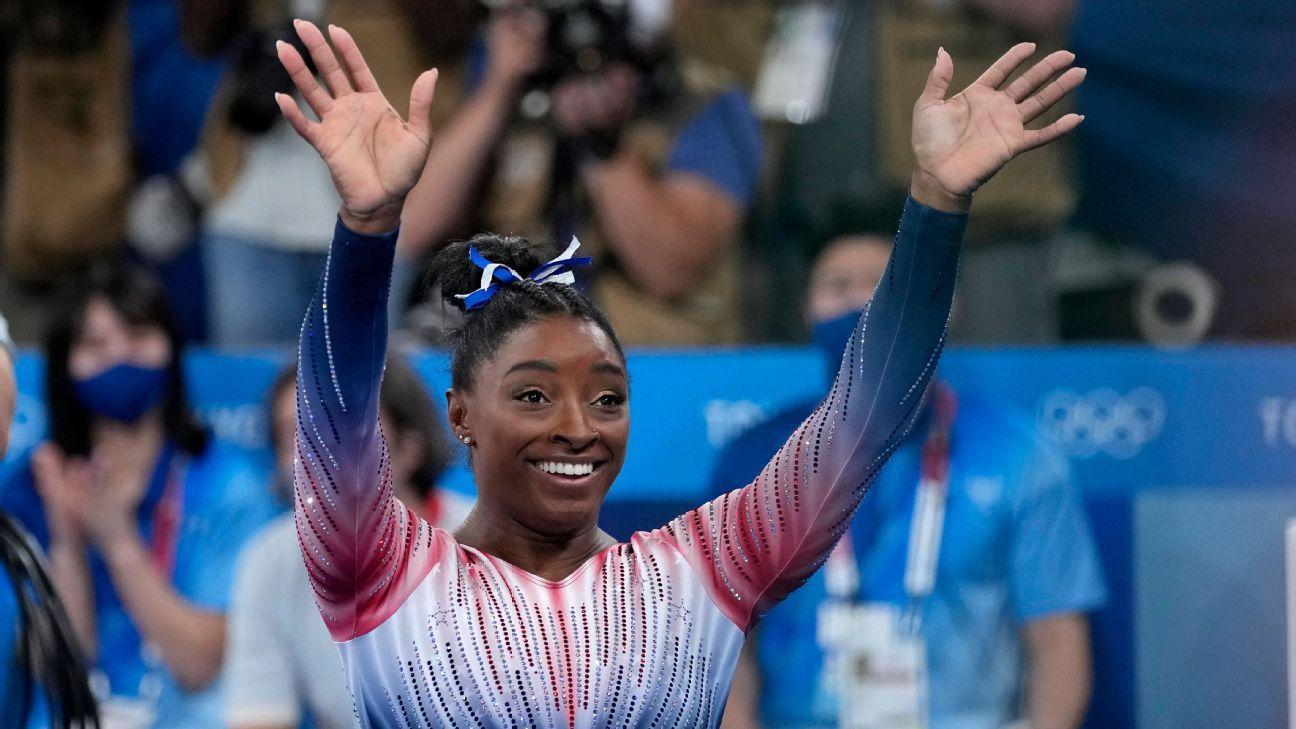 Simone Biles returns to competition, wins bronze medal on balance beam