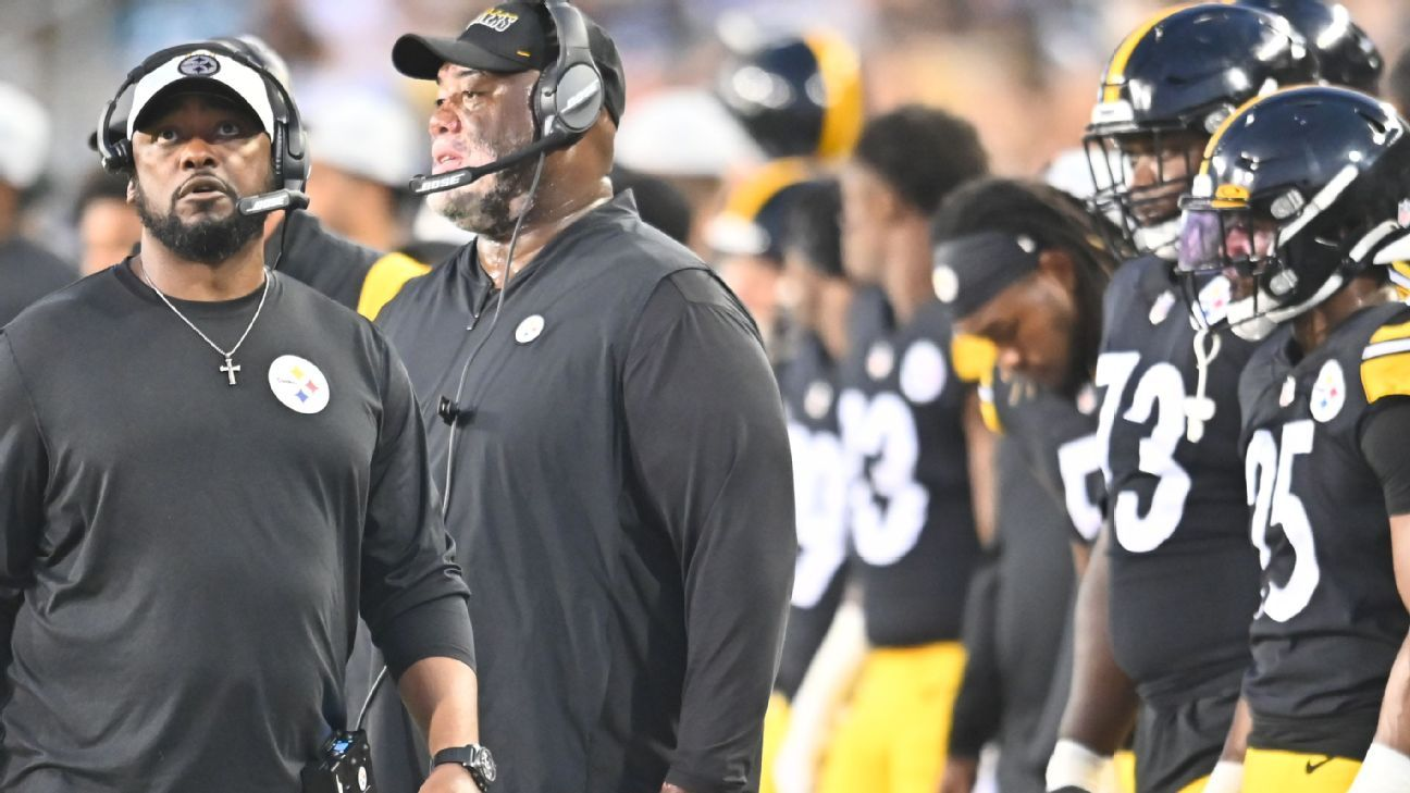 Mike Tomlin rips officiating at end of regulation in Pittsburgh Steelers' OT win over Seattle Seahawks