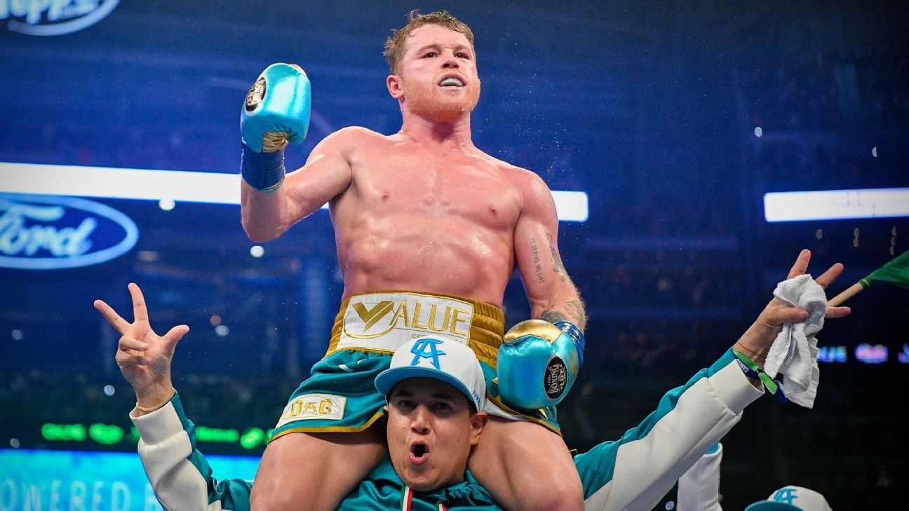 Sources: Canelo Alvarez, Caleb Plant nearing deal for super middleweight title fight in November
