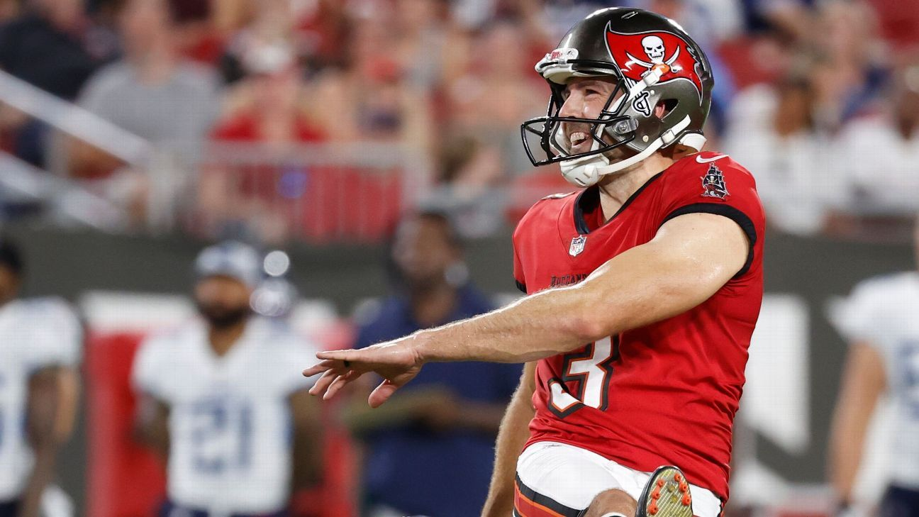 Tampa Bay Buccaneers' Ryan Succop tests positive for COVID-19 after Tennessee Titans dinner; out for preseason game