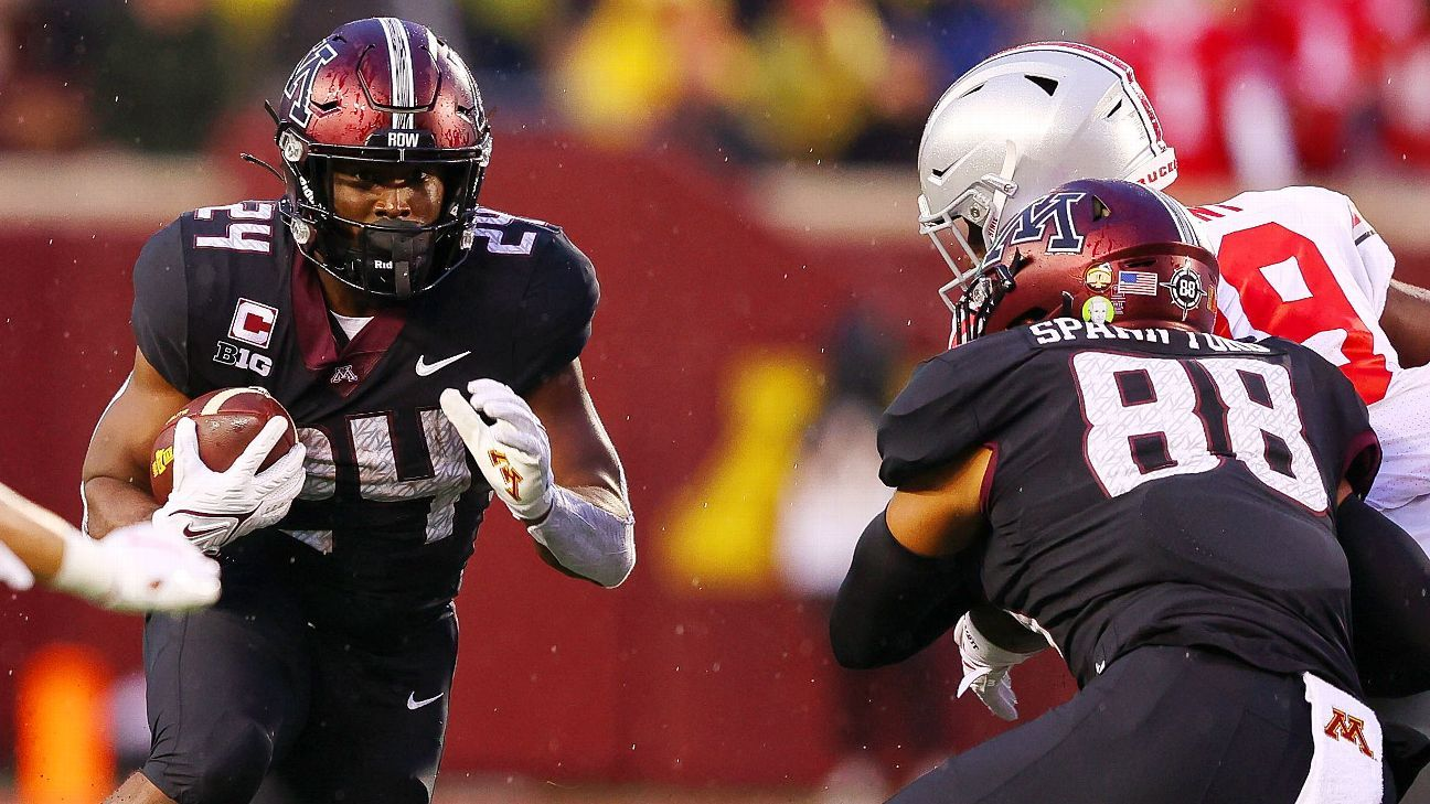 Big Ten running back of the year, Minnesota's Mohamed Ibrahim out for season with lower-leg injury