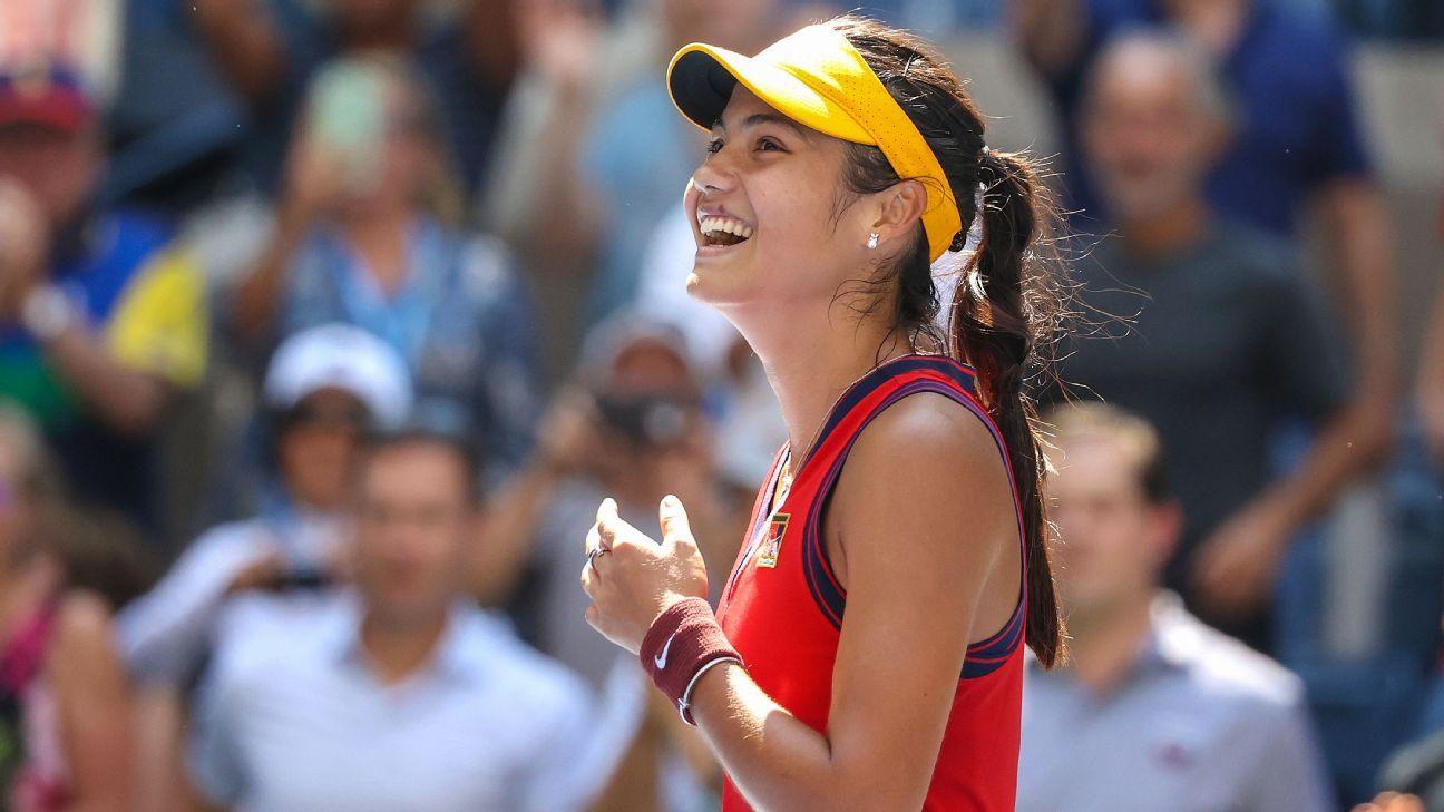 Emma Raducanu becomes first qualifier to reach US Open semifinals in Open era