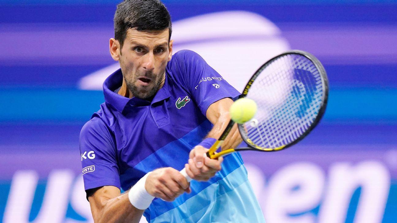 Novak Djokovic into US Open semifinals over Matteo Berrettini as he nears calendar-year Grand Slam