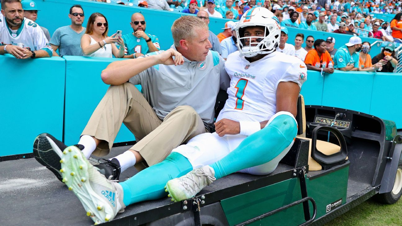 Miami Dolphins QB Tua Tagovailoa placed on injured reserve with fractured ribs, source says