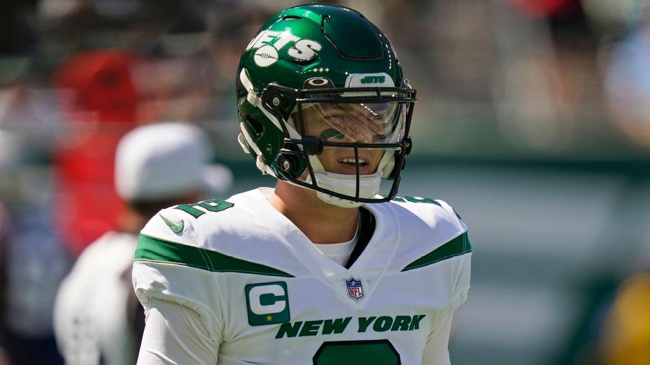 New England Patriots pick off New York Jets rookie QB Zach Wilson four times