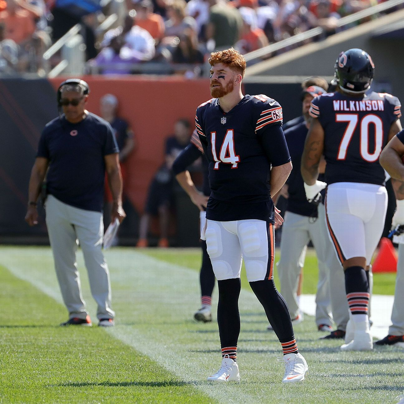 Chicago Bears say quarterback Andy Dalton remains their starter if healthy; early tests show no ACL tear