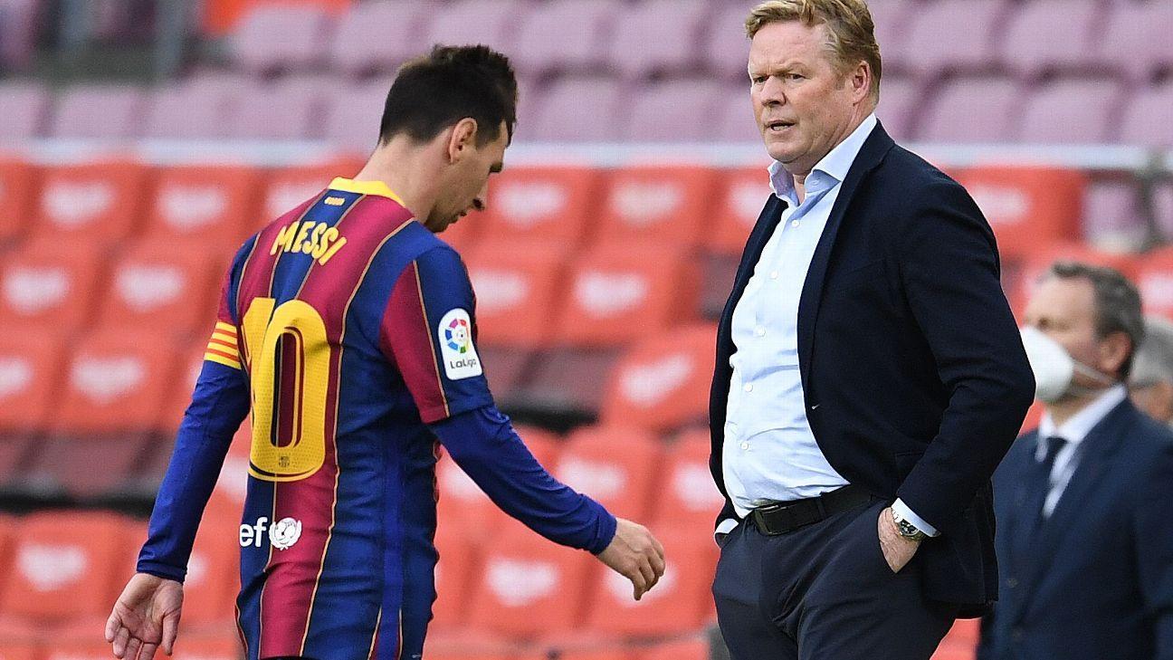 Koeman dice que Messi 'ocultaba' los problemas del Barcelona