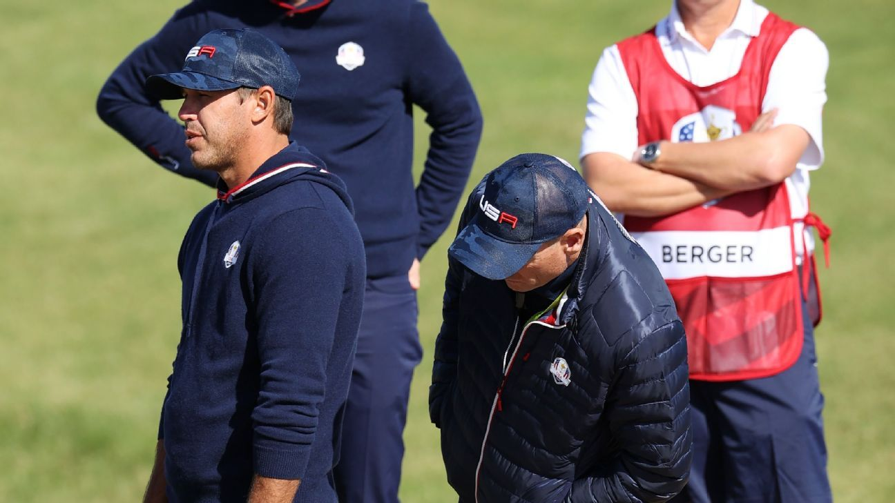 Brooks Koepka has strong words for Ryder Cup rules officials during Saturday's foursome match – ESPN