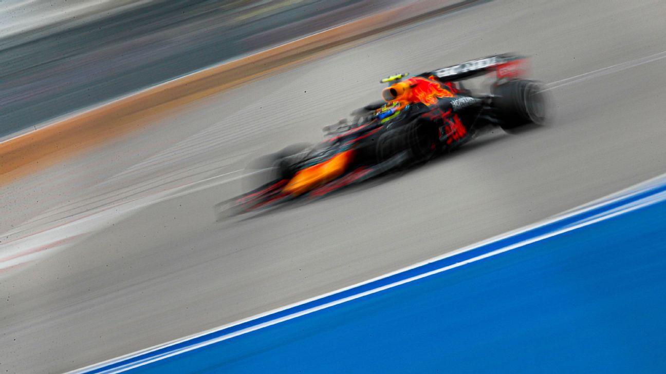 Checo Pérez pierde el podio en el GP de Rusia, por la lluvia
