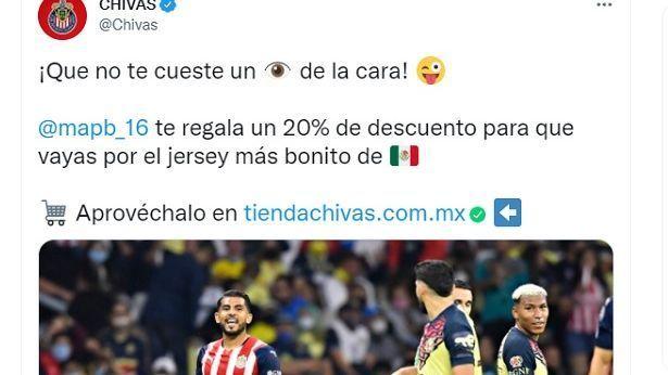 Chivas vende su jersey recordando el piquete de ojo de Miguel Ponce a Henry Martín