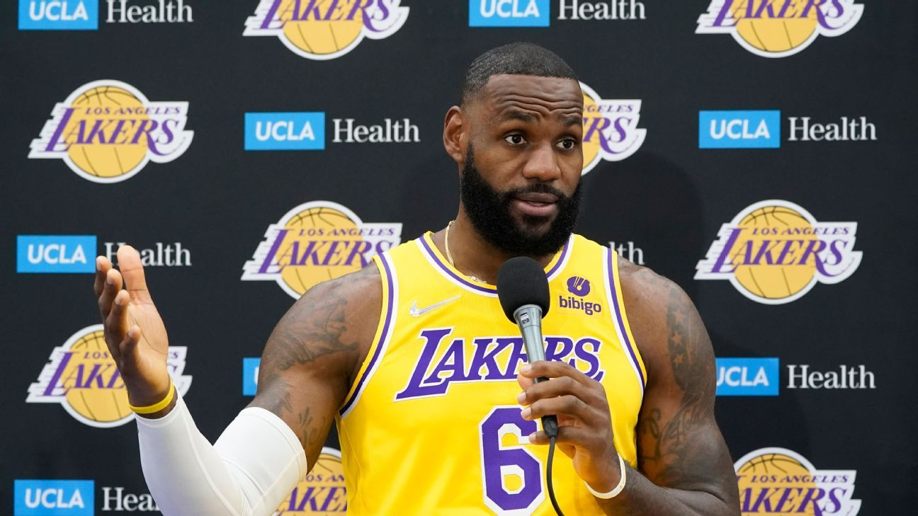 LeBron James says energy at Los Angeles Lakers training camp up from last season