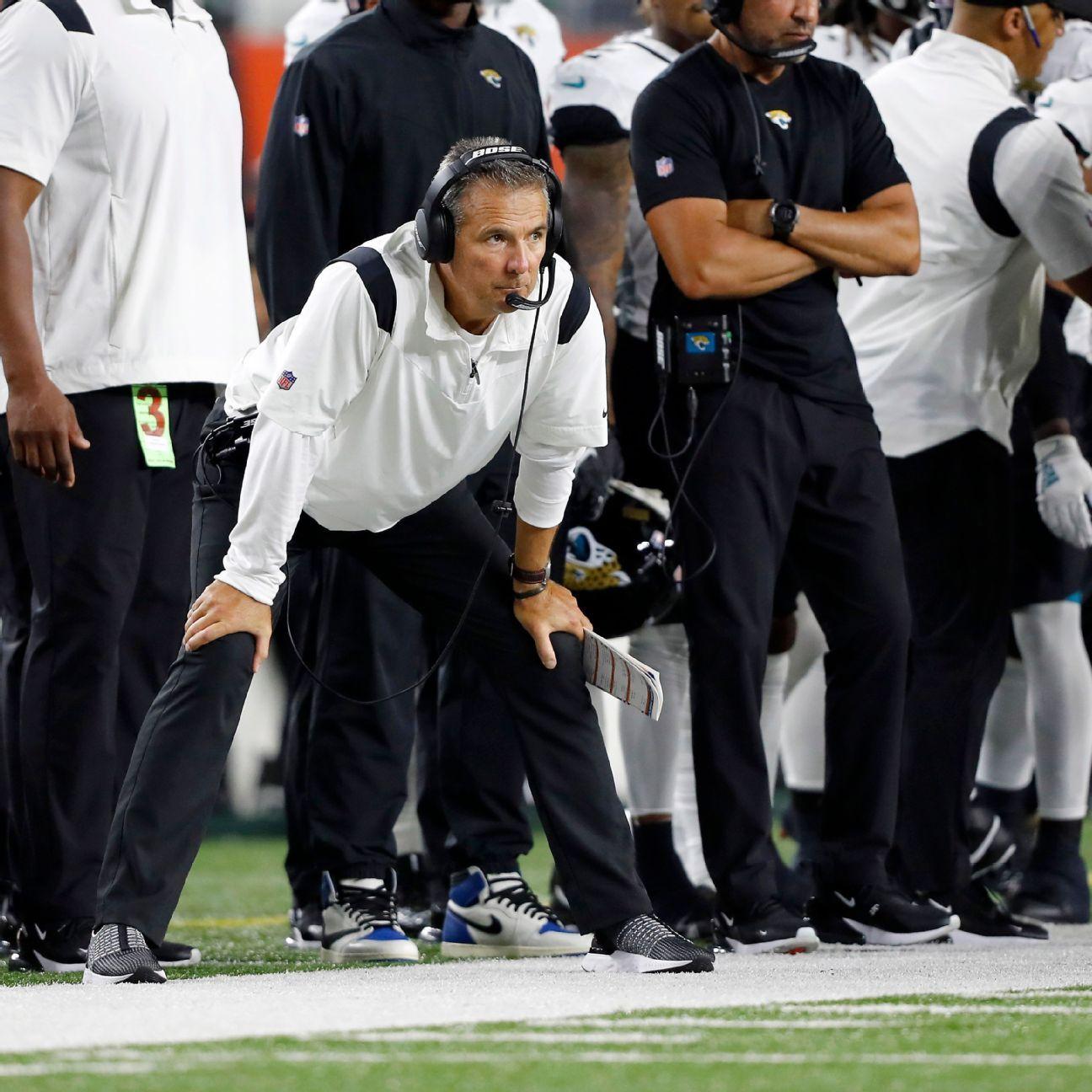 Frustrated Urban Meyer calls Jacksonville Jaguars' 19th-straight loss 'heartbreaking'
