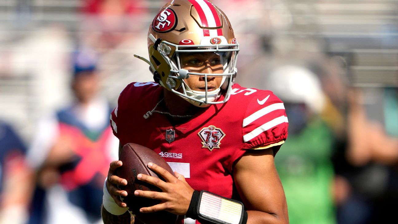 San Francisco 49ers rookie QB Trey Lance replaces injured Jimmy Garoppolo in loss