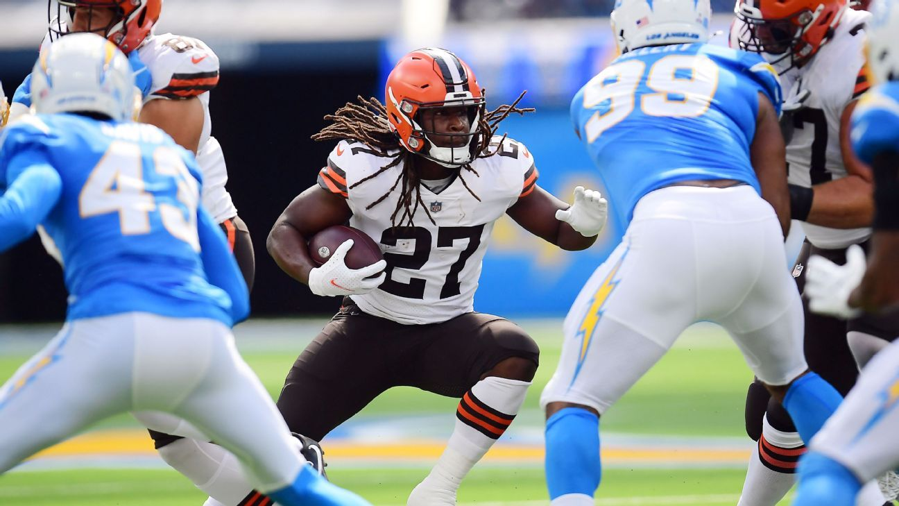 Cleveland Browns RB Kareem Hunt out 'several weeks' with calf injury