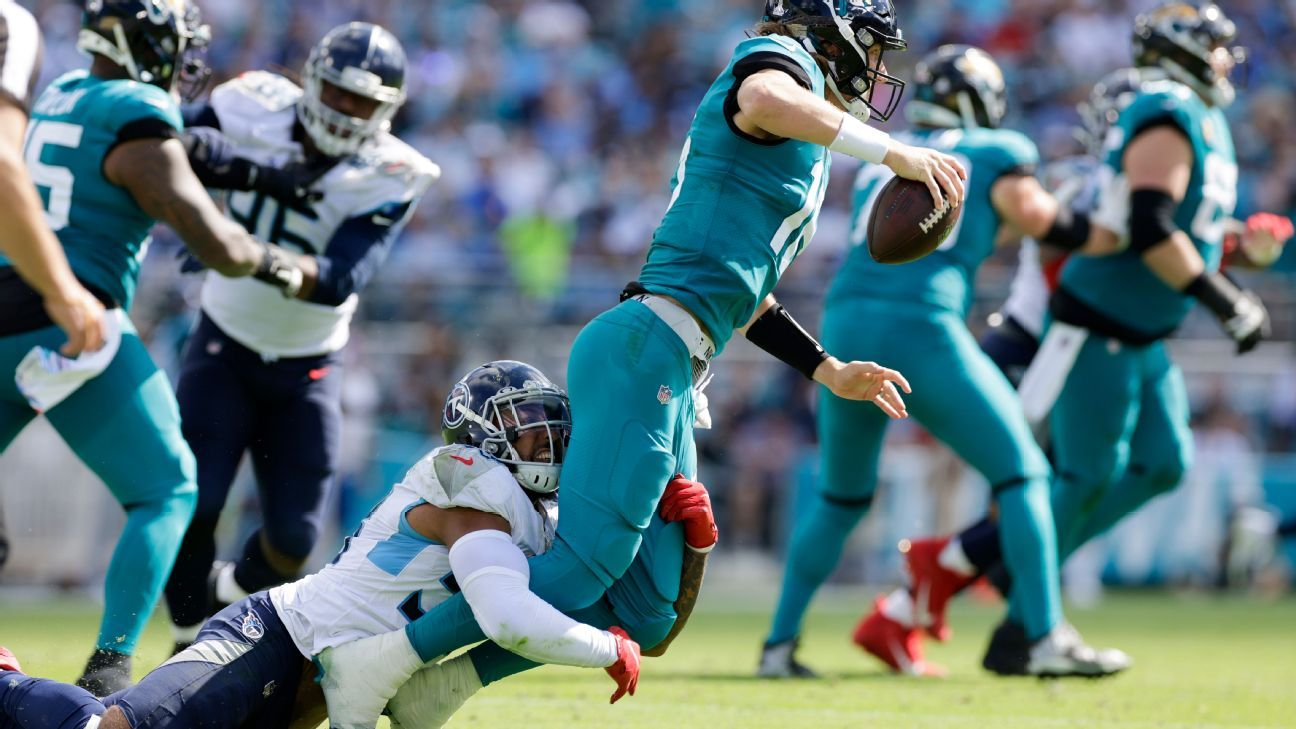 Jacksonville Jaguars' losing streak hits 20 games, with league record in sight