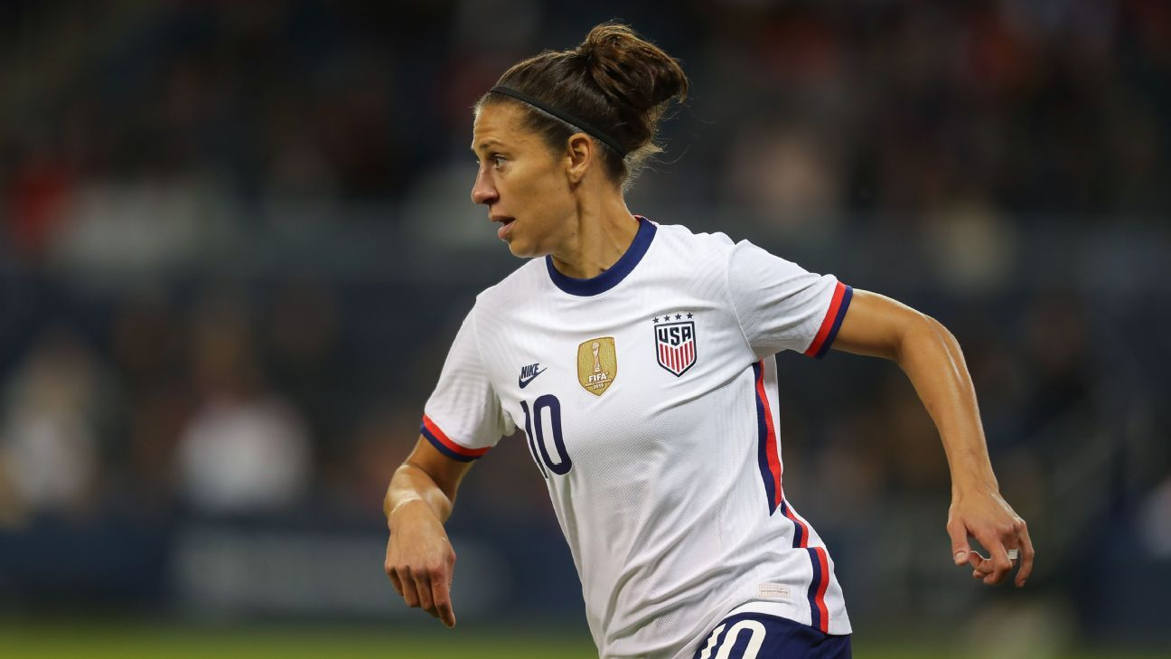 USWNT's Lloyd 'at peace' ahead of career finale