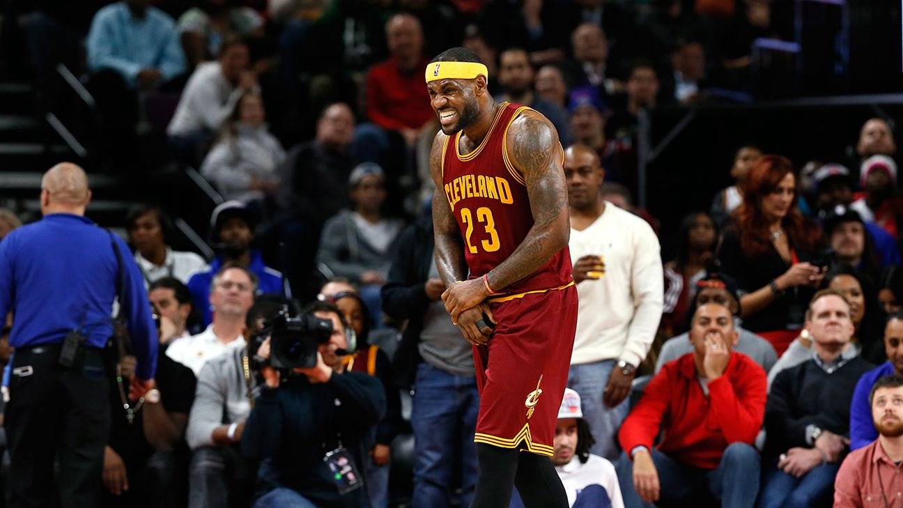 Cleveland Cavaliers' LeBron James (sprained wrist) out vs ...