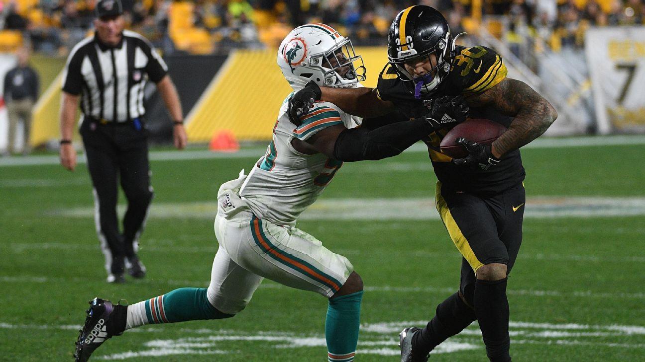 Steelers chạy lại James Conner trong trò chơi thứ 2 liên tiếp; JuJu Smith-Schuster trong câu hỏi