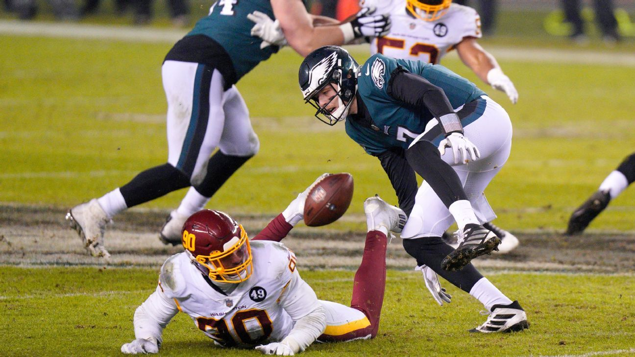 Eagles remove Jalen Hurts, and Giants players, fans are beside themselves