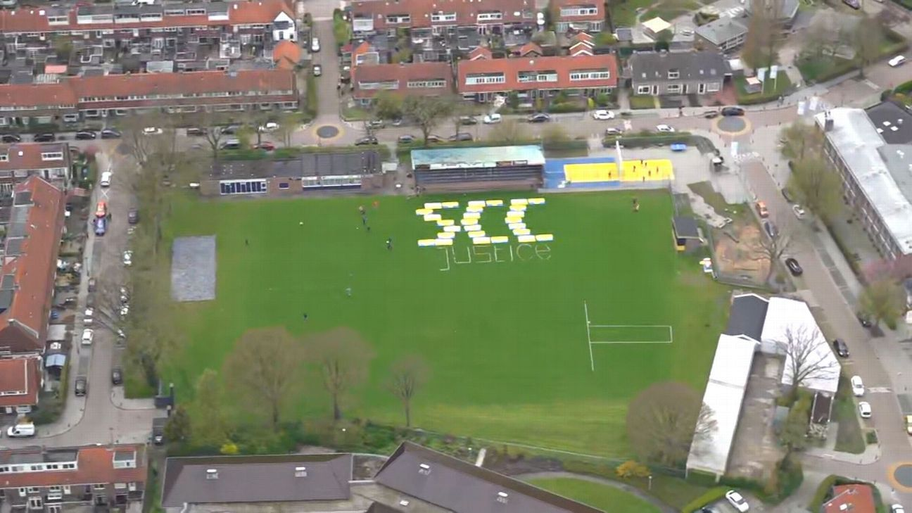 Get to the chopper! Inside Dutch club's helicopter parade to celebrate promotion