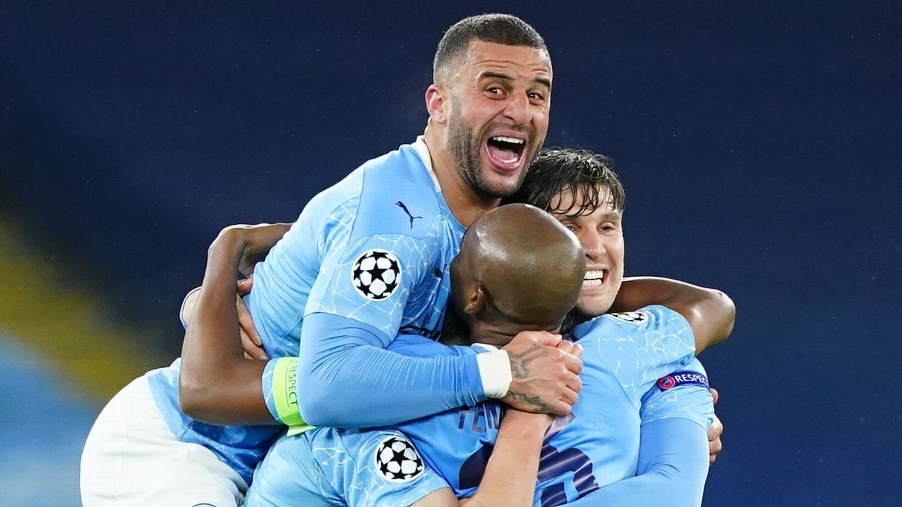 Man City's WILD celebrations after reaching UCL final captured by Steffen