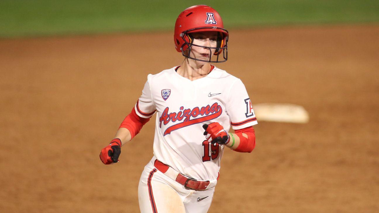 College World Series, not NCAA home run record, is Jessie Harper's aim