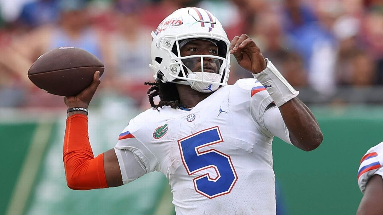 Florida QBs 'know the plan' with job split vs. Tide