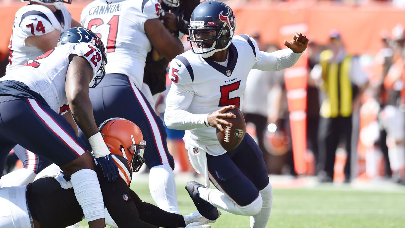 Texans QB Taylor ruled out with hamstring injury